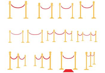 Free Velvet Ropes Vector - vector gratuit #363065