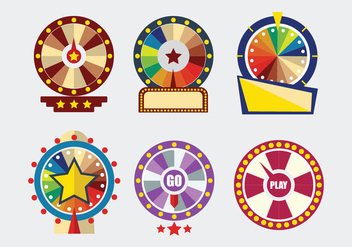 Spinning Wheel Template Vector - vector gratuit #363085
