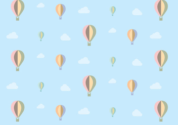 Air Balloons Pattern - vector gratuit #363135