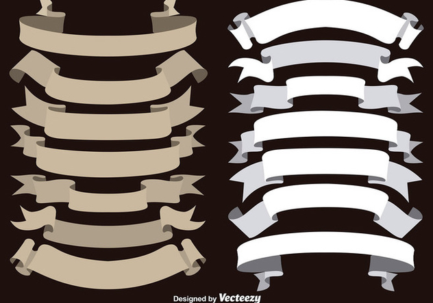 Vector Brown and White Ribbons Collection - vector #363215 gratis