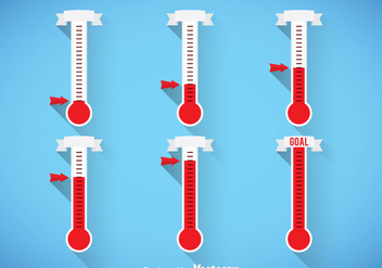 Thermometer Vector Sets - vector gratuit #363285