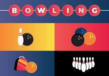 Free Bowling Vectors - бесплатный vector #363345