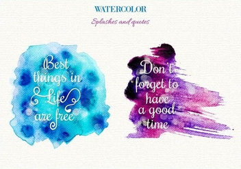 Free Vector Watercolor Splashes - vector gratuit #363365