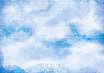 Free Vector Watercolor Sky Background - Free vector #363415