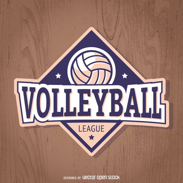 Volleyball badge in purple and light pink - vector gratuit(e) #363435