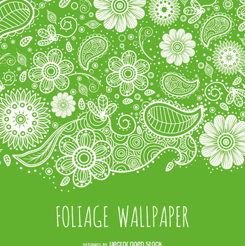 Green foliage background - Free vector #363445
