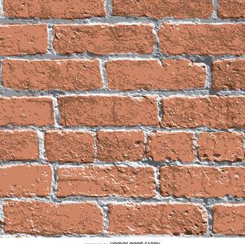 Realistic brick wall texture - vector gratuit #363505