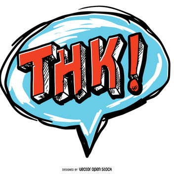 Thank you THK speech bubble - vector gratuit #363525