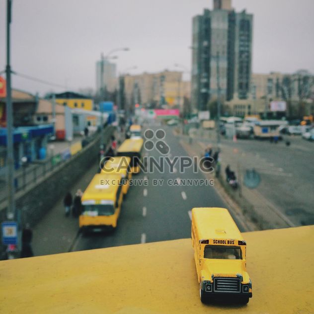 Miniature school bus - Free image #363665