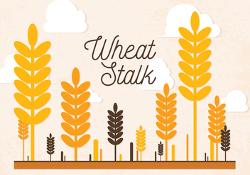 Free Wheat Stalk Vector - vector gratuit #363745