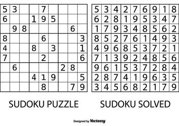 Sudoku Puzzle Vector - Kostenloses vector #363895