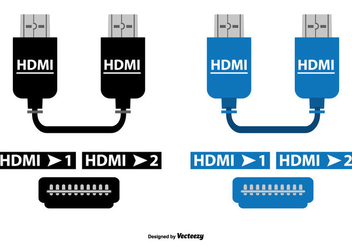 HDMI Vector Cable Set - Kostenloses vector #363925