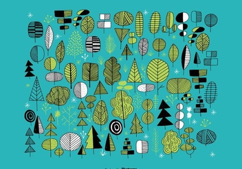 Hand Drawn Tree Vectors - vector #363995 gratis
