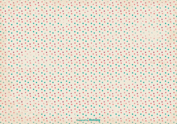 Retro Grunge Polka Dot Pattern Background - Free vector #364005