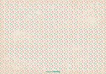 Retro Grunge Polka Dot Pattern Background - бесплатный vector #364005