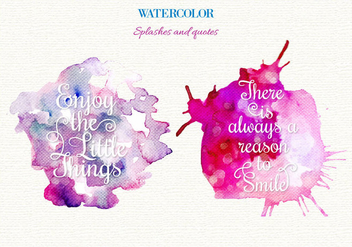 Free Vector Watercolor Splashes - Free vector #364125