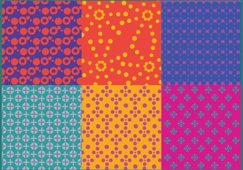 Colorful Dot Pattern Vectors - Free vector #364205