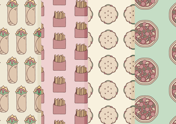 Vector Fast Food Patterns - vector #364375 gratis