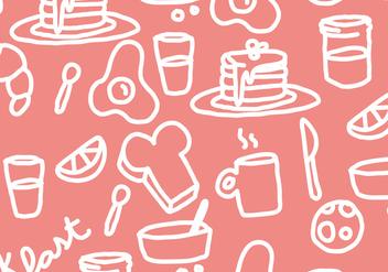 Pancake Breakfast Pattern Vector - vector gratuit(e) #364385