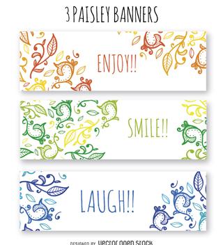 Floral banner set - Kostenloses vector #364405