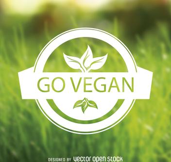 Go vegan emblem - Kostenloses vector #364415