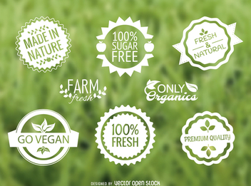 Food label vector set - Free vector #364485
