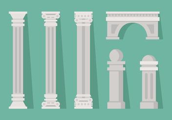 Vector Roman Pillar - Free vector #364595
