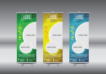 Roll Up Banner template vector illustration - Kostenloses vector #364725