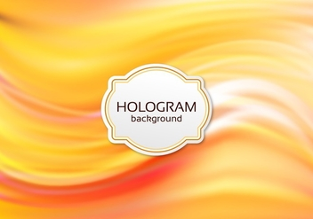 Free Vector Orange Hologram Background - Free vector #364865