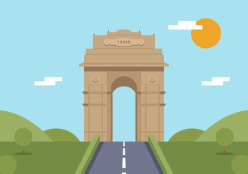 Vector India Gate - vector gratuit #364895