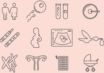 Pregnant Icons - Free vector #364965