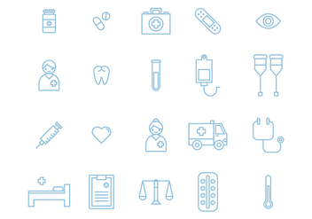 20 Medical Icons - vector #365315 gratis