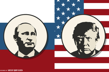 Putin vs Trump - Free vector #365565