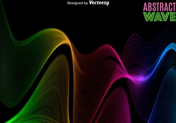 Vector Abstract Colorful Spectrum/Wave - Free vector #365725