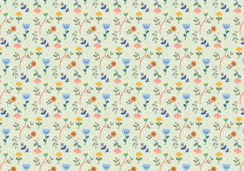 Pastel Flower Pattern - Free vector #365835