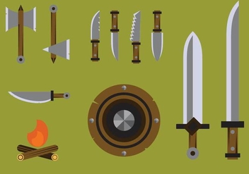 Free Barbarian Weapons Vectors - бесплатный vector #365905