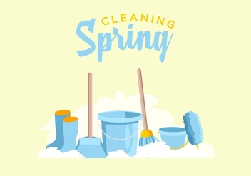 FREE SPRING CLEANING VECTOR - бесплатный vector #366045