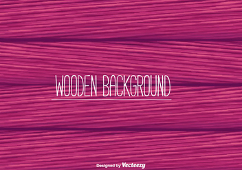 Pink Wooden Background Vector - vector gratuit #366155