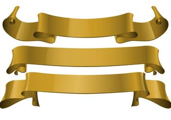 Free Gold Realistic Ribbon Vector - Free vector #366635