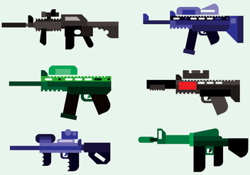 Laser Tag Army Vector - Kostenloses vector #366745
