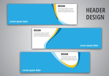 Free Header Designs Vector - Kostenloses vector #366895