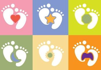 Free Baby Foot Vector - Kostenloses vector #367035