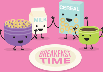 Breakfast Time Vector - vector #367135 gratis