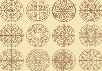 Swirly Decoration Vectors - Free vector #367175