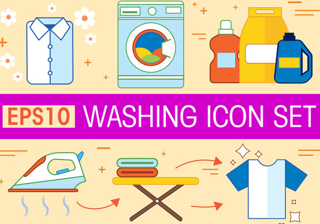 Free Washing Vector Icon Set - vector #367265 gratis