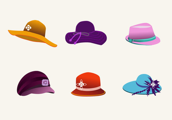 Lovely Hats Vector - vector #367415 gratis