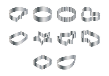 Steel Cookie Cutter Vector - vector gratuit #367635