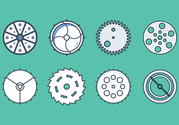 Free Clock Parts Vector Graphic 4 - бесплатный vector #367665