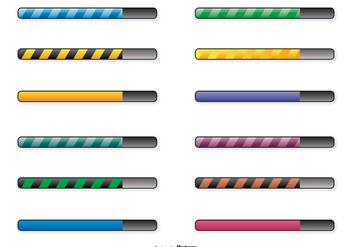 Preloading Bars Icon Set - Free vector #367755