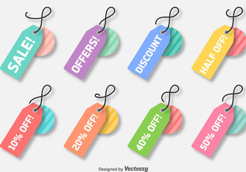 Vector Colorful Discount Labels - vector gratuit #367815